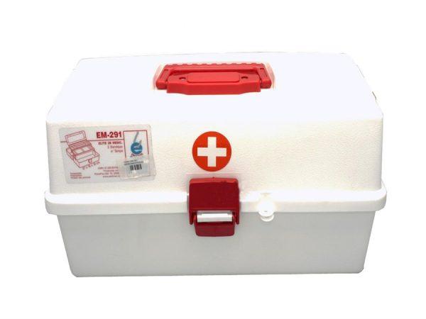 Caixa Primeiros Socorros Medio 02 Prateleiras EM 291